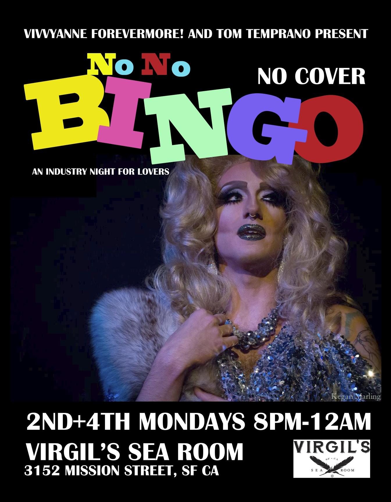 Drag Bingo Oakland Bingopostervivvy